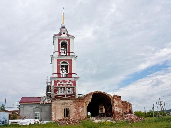 Церковь Георгия Победоносца - Мироново - Артемовский район - Свердловская область, восстанавливается