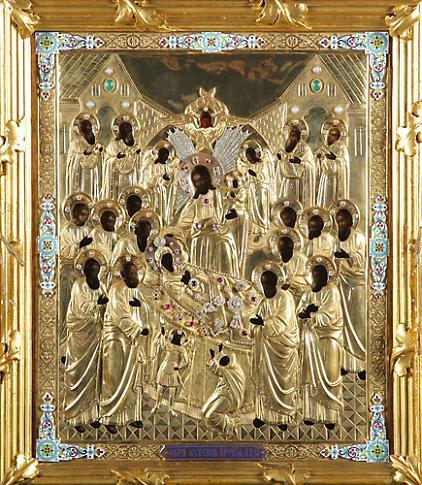Икона Богородицы «Успение» Пюхтицкая