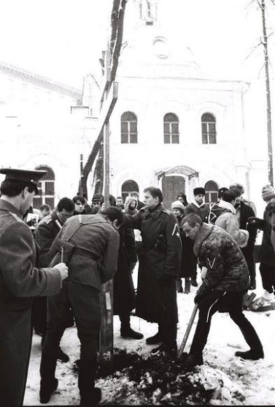 Освящение и воздвижение Православного Креста протоиерею Иоанну Восторгову и епископу Ефрему Кузнецову 1