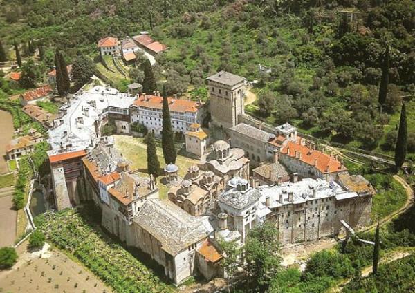 Хиландарский монастырь, Афон