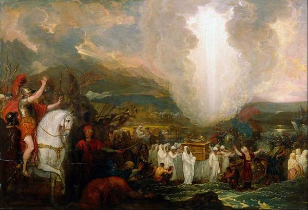 Иисус Навин переходит реку Иордан с Ковчегом Завета. Художник Бенджамин Вест