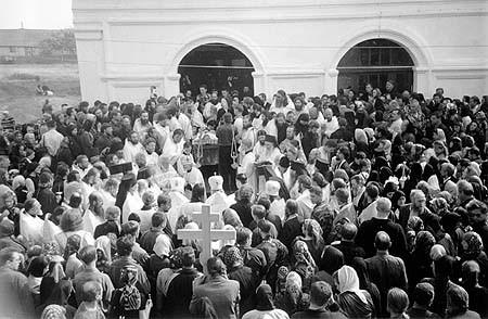 в день похорон старца о. Николая Гурьянова