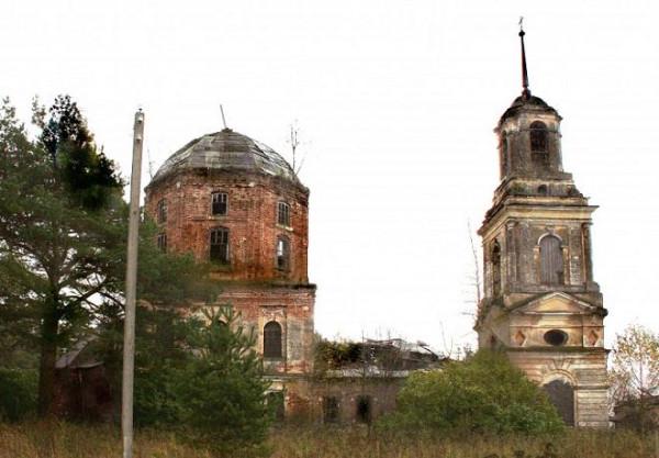 Церковь Воздвижения Креста Господня - Волосково - Рамешковский район - Тверская область, не действует