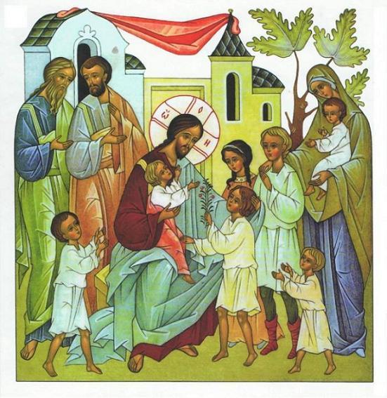 Пустите детей приходить ко Мне и не препятствуйте им, ибо таковых есть Царствие Божие