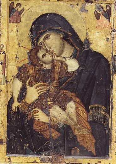 икона Божьей Матери Сладкое Лобзание   - святыня монастыря Филофей