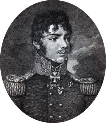 Кутайсов Александр Иванович (1784 - 1812, с. Бородино, под Можайском) - герой Отечественной войны 1812. Гравюра С. Карделли, 1810