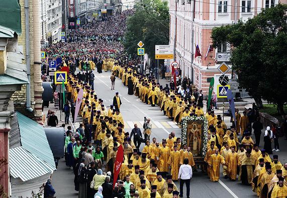 Крестный ход в Москве 6 сентября 2015 года