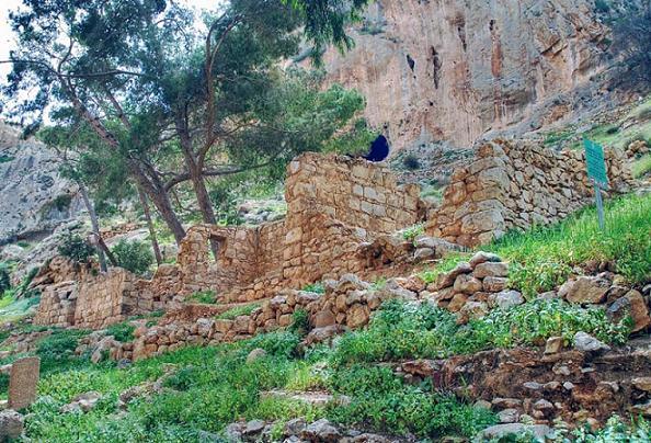 Церковь Кириака Отшельника - Иудейская пустыня, Вади Кельт (Нахаль Прат) - Палестина