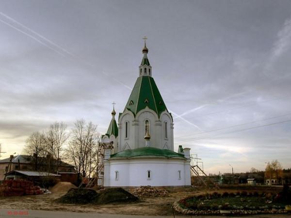 Церковь Спаса Преображения - Запрудня - Талдомский район - Московская область - в наши дни восстанавливается