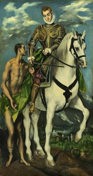 «Святой Мартин делится плащом с нищим», картина Эль Греко