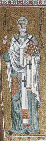 Свт. Савин Катанский. Мозаика собора в Монреале. Сицилия. XII в.