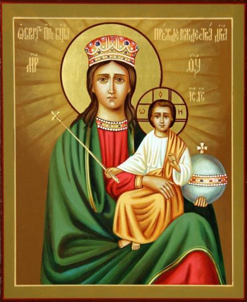 Икона Богородицы «Прежде Рождества и по Рождестве Дева»