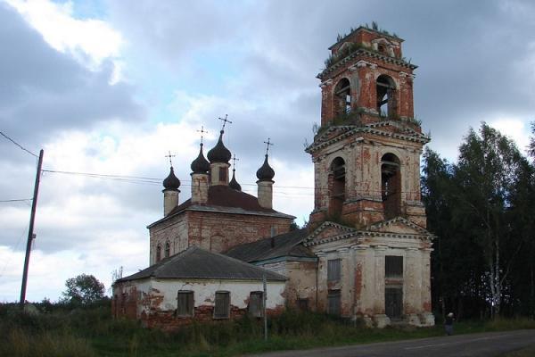 Церковь Вознесения Господня - Лацкое - Некоузский район - Ярославская область, не действует