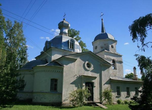 Церковь Покрова Пресвятой Богородицы - Озёра - Гдовский район - Псковская область, построена в 1871 году на месте упраздненного монастыря