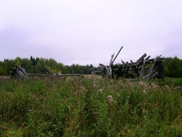 остатки деревни Цылиба, где стояла деревянная часовня с мощами Димитрия Цилибинского