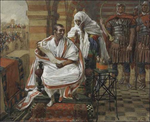 Жена Пилата предупреждает о своем сне. Джеймс Тиссо. (Жак-Жозеф Тиссо, 1836 — 1902)