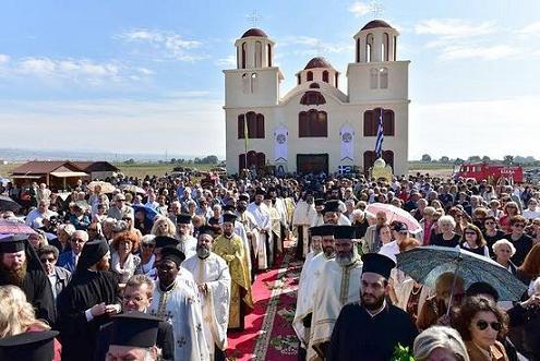 В Греции освящен первый храм в честь преподобного Порфирия Кавсокаливита 3