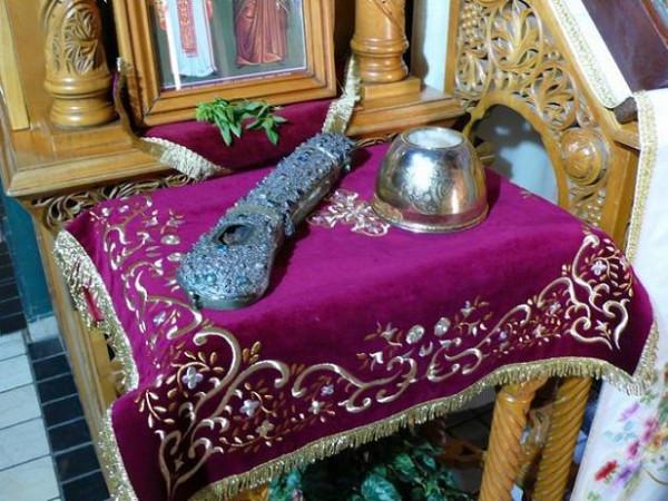 Честная глава и правая рука прп. Давида Эвбейского