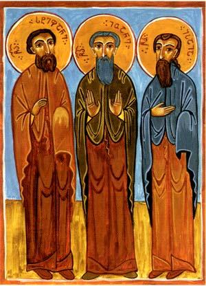 Святые праведные Иоанн, Стефан и Исаия