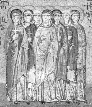 Мученицы Текуса, Александра,  Полактия, Клавдия, Евфрасия, Афанасия и Матрона
