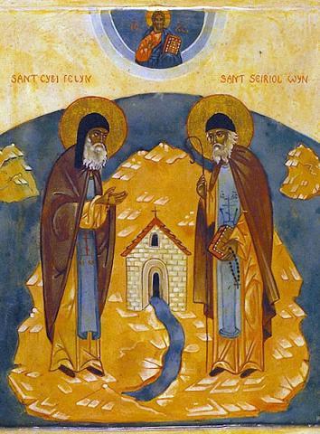 Свт. Киби Валлийский и прп. Сейриол Пенмонский