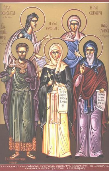 Преподобные Евстолия и Сосипатра