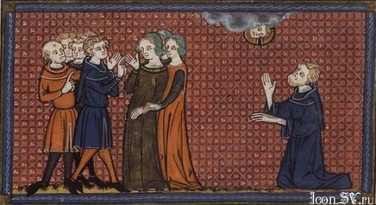 Святитель Нонн Илиопольский молится о спасении Пелагии