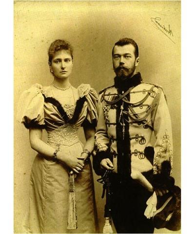 Император Николай II и императрица Александра Феодоровна. 1896 г