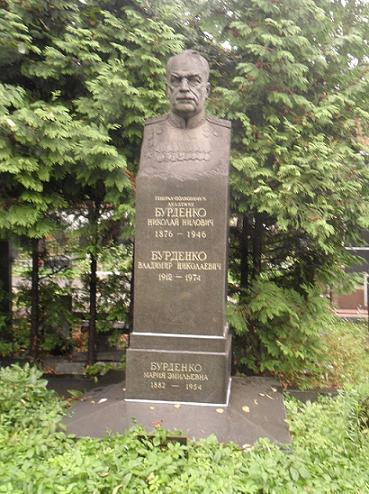 Могила Бурденко на Новодевичьем кладбище