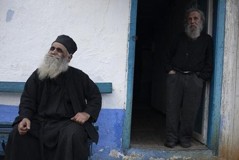 Старец Нектарий Караманлис (18.3.2011) - справа