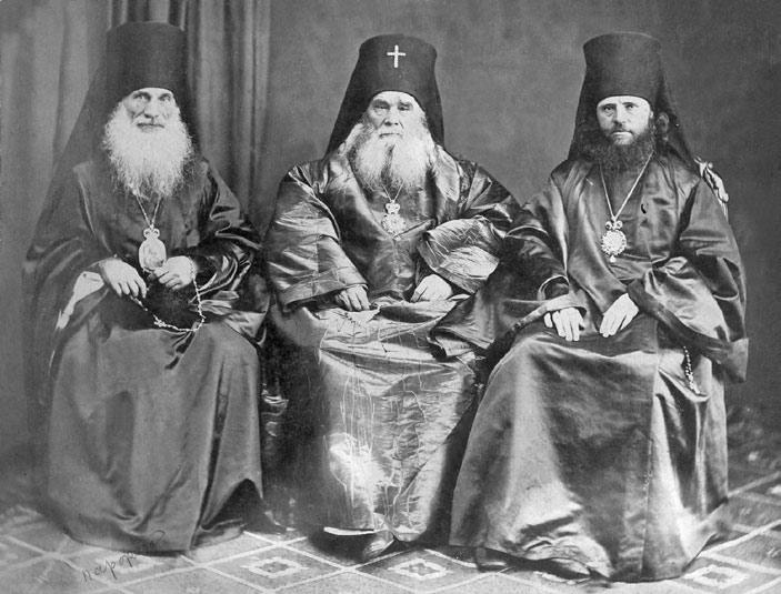 архиепископ_Парфений_Павлов_митрополит_Иннокентий_Вениаминов_епископ_Вениамин_Благонравов