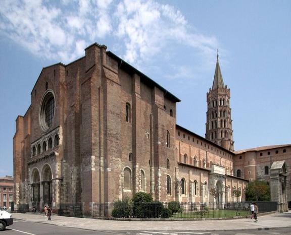 Крупнейшая романская церковь Европы – базилика Святого Сатурнина Тулузского (Basilique Saint-Sernin de Toulouse)