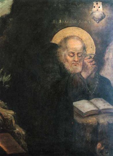 Преподобный Афанасий Печерский в Ближних пещерах