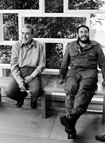 Брежнев и Фидель