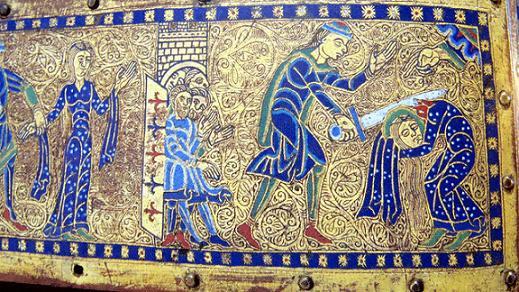 Мученичество Святой Валерии. Реликварий из Лиможа, эмаль