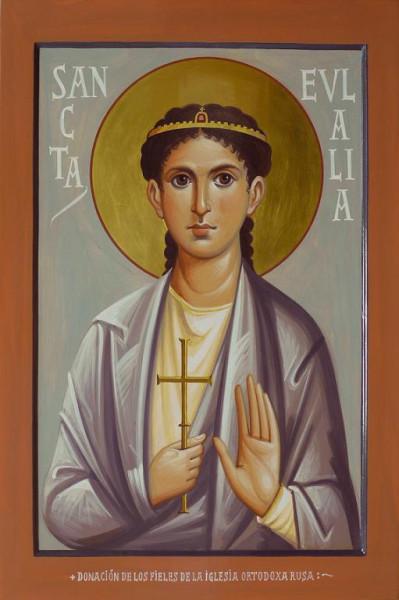 Святая Евлалия - мученица меридская