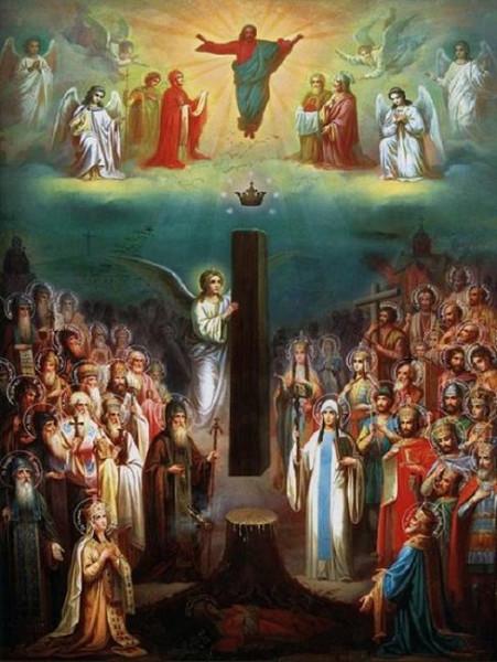Икона Собор грузинских святых, иконописец Михаил Сабинин (1880-е)