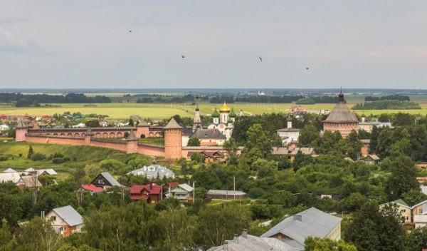 Спасо-Евфимиевский монастырь - Суздаль - Суздальский район - Владимирская область. Вид на монастырь с колокольни Евфросинии Суздальской