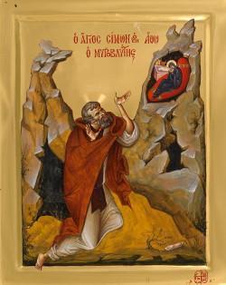Преподобный Симон Мироточивый, Афонский