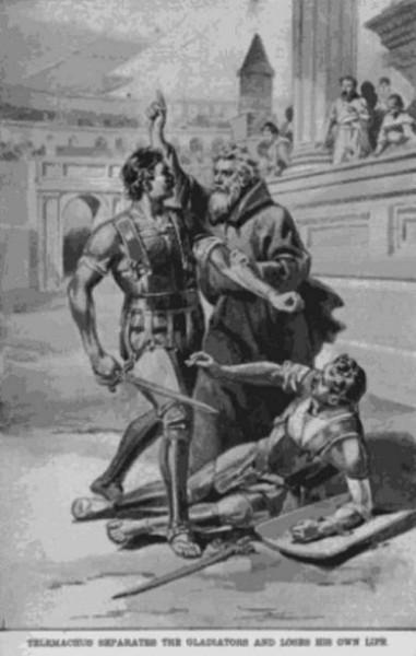 Телемах Римский останавливает гладиатора