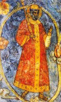 Царь Феодор Иоаннович. Фреска Спасо-Преображенского собора московского Новоспасского монастыря, 1689 г.
