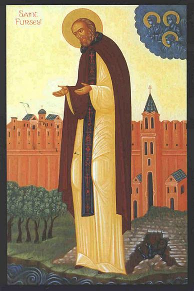 Преподобный Фурсей  Ирландский, игумен в Бург-Касле и в Ланьи-на-Сене