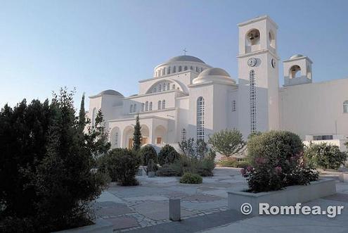 Афины, Милеси, храм Преображения Господня, основан прп. Порфирием Кавсокаливитом