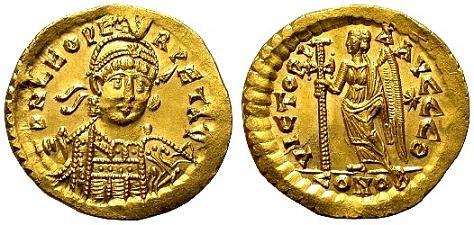 Солид императора Льва  I Макелла, 462г.