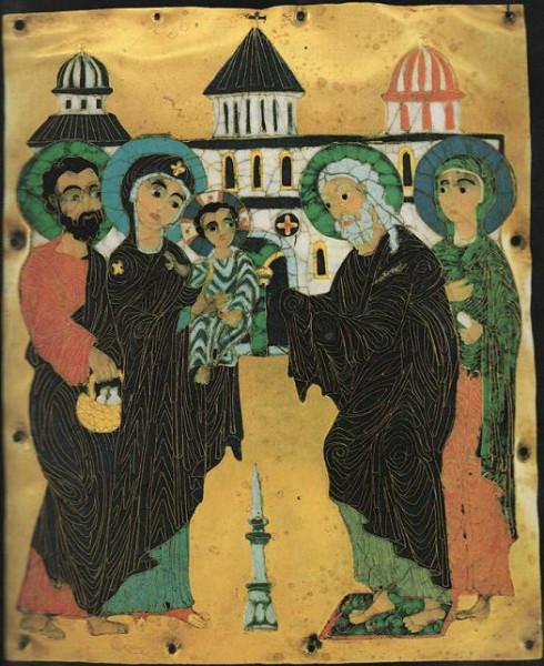 Сретение Господне, грузинская икона
