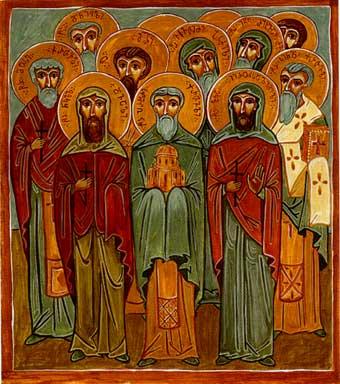 Свв. Прохор Грузин (X), Лукa Иерусалимский (1277), Николай Двали (1314) и другие мученики и преподобные, жившие в Грузинских монастырях Иерусалима