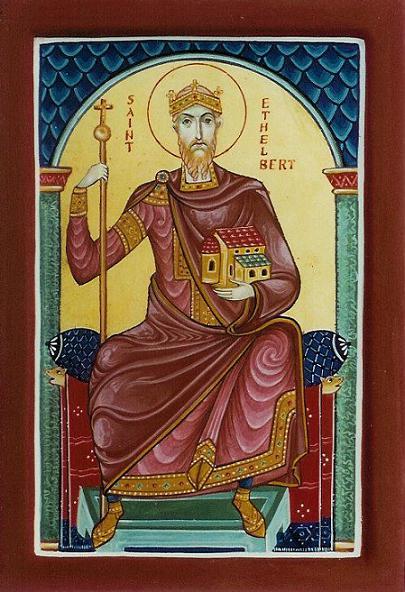 Святой Этельберт I Кентский, первый христианский король Кентский