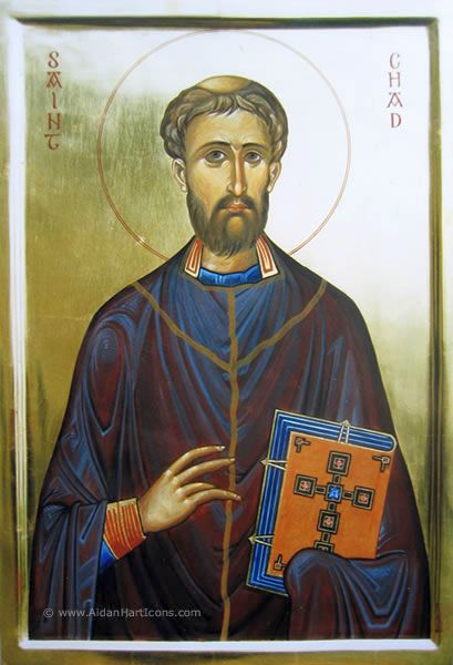 Святитель Чед Личфилдский (Chad, Cheadda), игумен, епископ