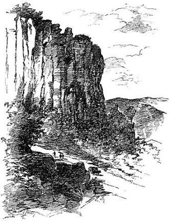 Скала в горах Овернии, схожая с той, на которой вел брань преп. Калуппан