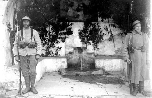 Французские боевые части на Афоне 1918 год. Караул